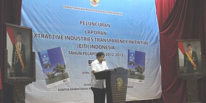 Launching Laporan EITI Indonesia 2012-2013