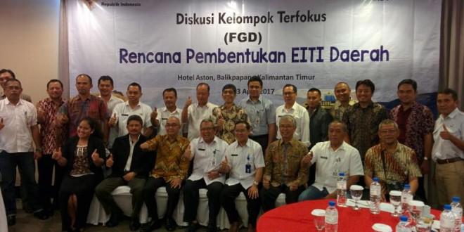FGD Pengembangan EITI Daerah, Balikpapan, Kalimantan Timur